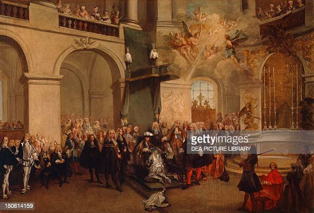 Conferring of the Order of the Holy Spirit in the chapel of Versailles June 3 by Nicolas Lancret France 18th century