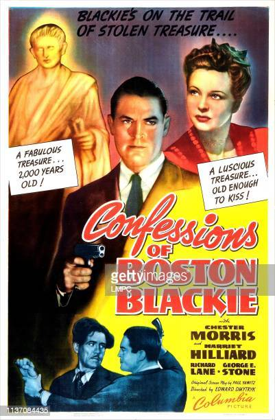 Confessions Of Boston Blackie poster US poster center from left Chester Morris Harriet Hilliard 1941