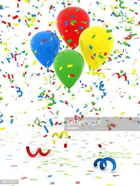 Confetti and Balloon