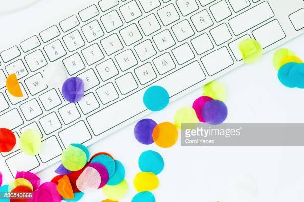 confetti and keyboard