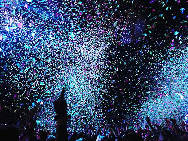 Confetti Falling On Crowd At Concert Wall Art