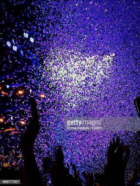 Confetti Falling On People During Pop Concert