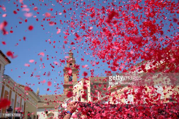 confetti festival - valencia spain stock pictures, royalty-free photos & images