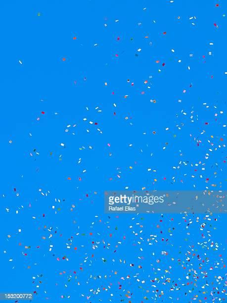 Confetti in wind