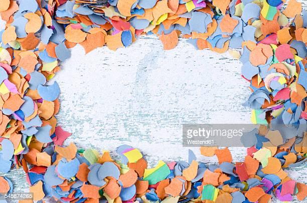 Confetti on wood