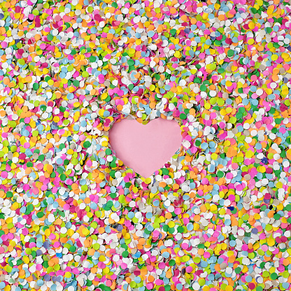 confetti with heart shape - gettyimageskorea