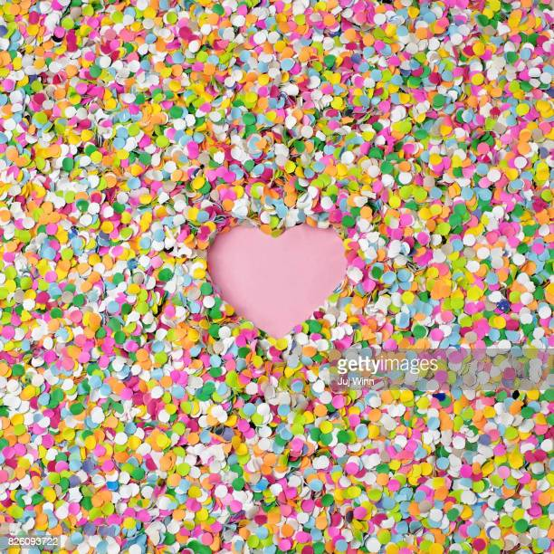 confetti with heart shape