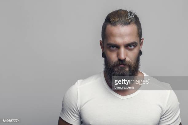 confidence and masculinity - beard stock pictures, royalty-free photos & images