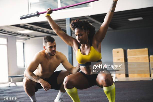 confidence comes from discipline and training - black female bodybuilder stock photos and pictures