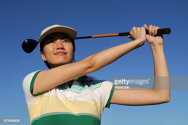 Confidence Female Golfer Swing