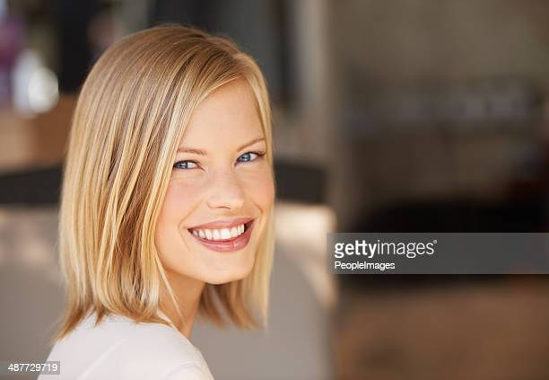 confidence gives her that special something! - blonde hair stock pictures, royalty-free photos & images