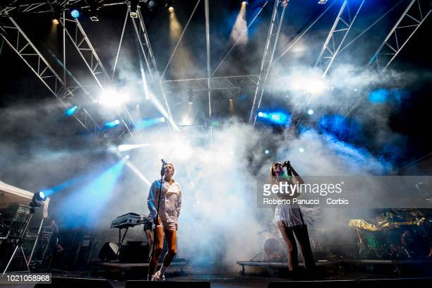 Confidence Man perform on stage during Ypsigrock Festival on August 10 2018 in Castelbuono Palermo Italy