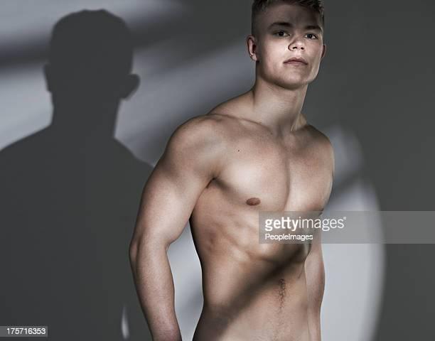 Zuversichtlich über seine tollen form