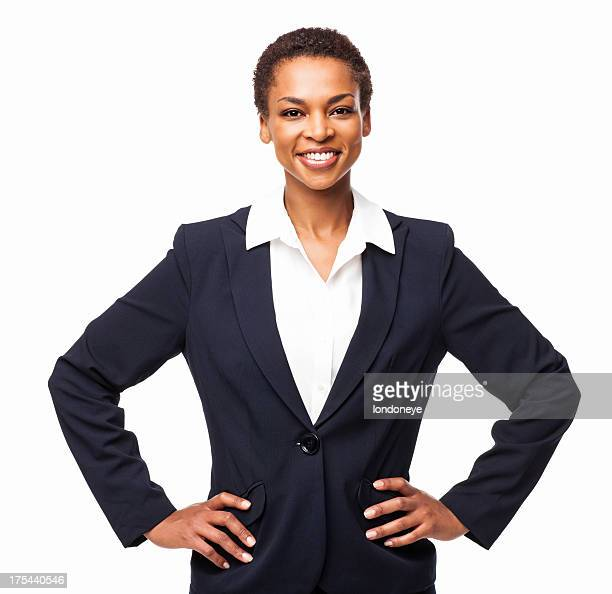 Confident African American Businesswoman - Isolated