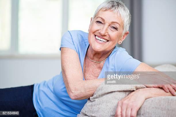 Confident and happy senior woman