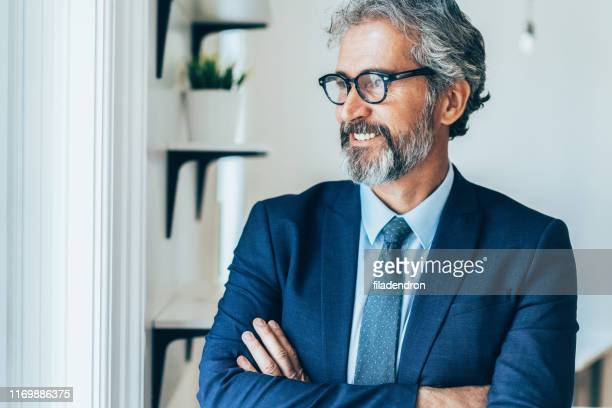 homme d'affaires confiant et souriant - cravate photos et images de collection