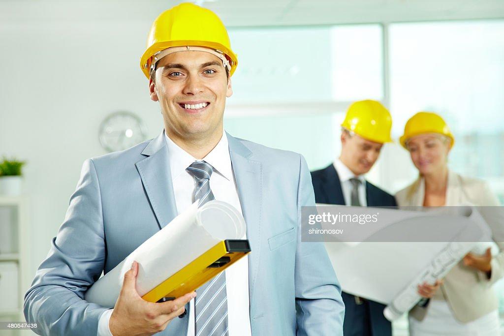 Confident architect : Stock Photo
