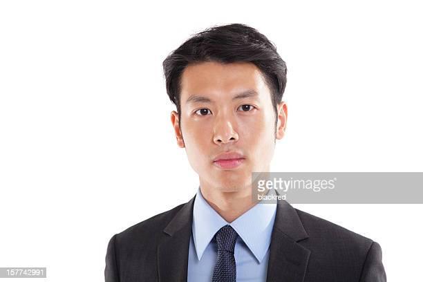 大胆なアジアのビジネスマン