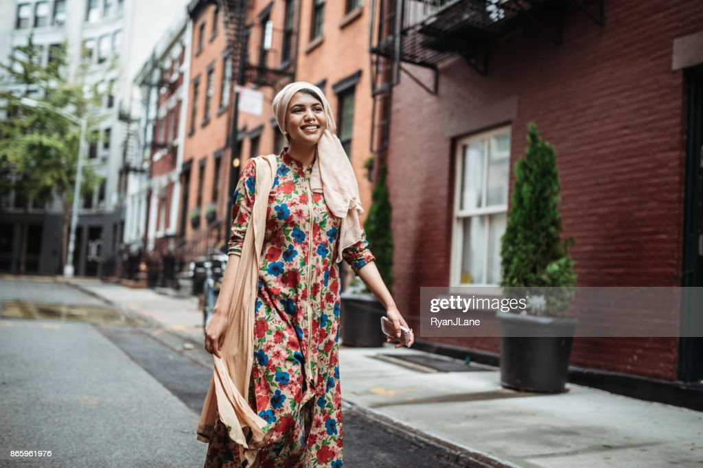Confident Bengali Muslim Young Woman : Foto stock