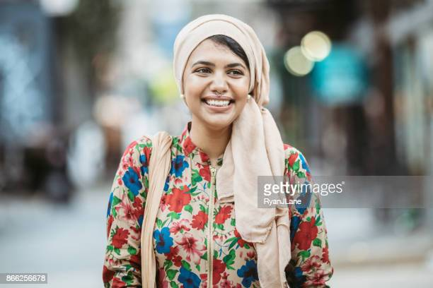 Confident Bengali Muslim Young Woman