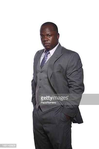 Confident black corporate executive