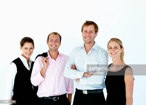 confident business team - four people stock pictures, royalty-free photos & images