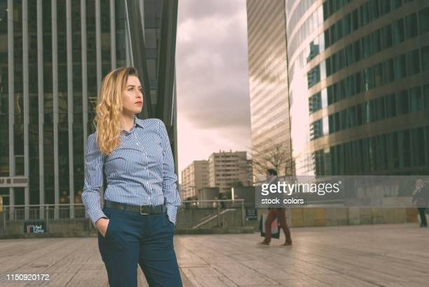 confident business woman - hands in pockets stock pictures, royalty-free photos & images