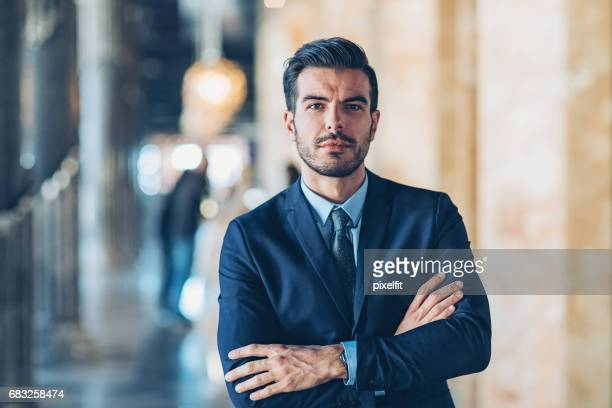 confident businessman - employment law stock photos and pictures