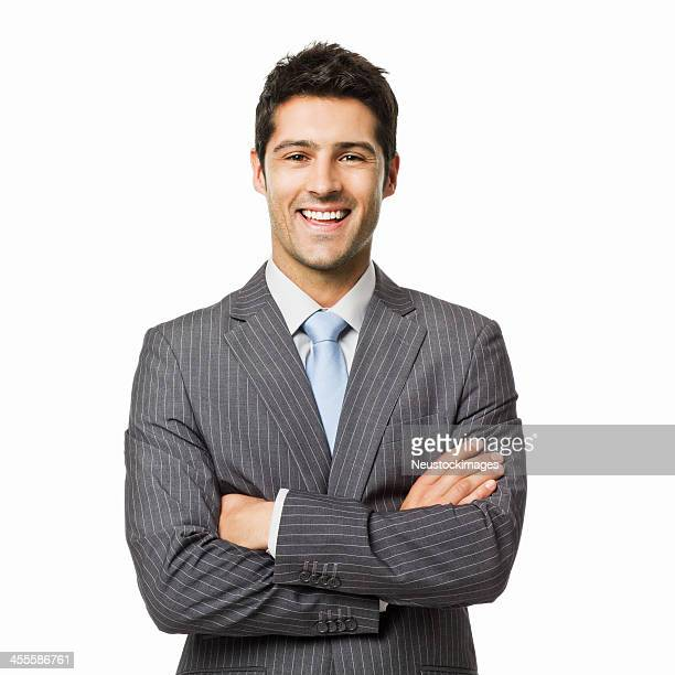 confident businessman portrait - isolated - suit stock pictures, royalty-free photos & images