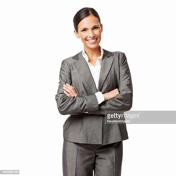 Zuversichtlich Geschäftsfrau-isoliert