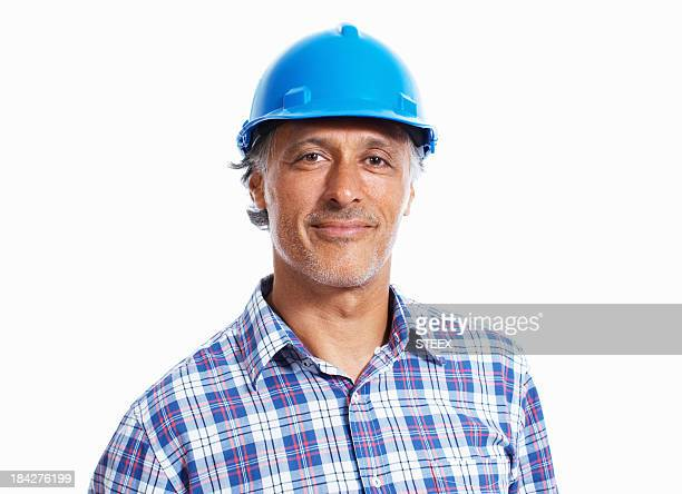 Confident construction worker