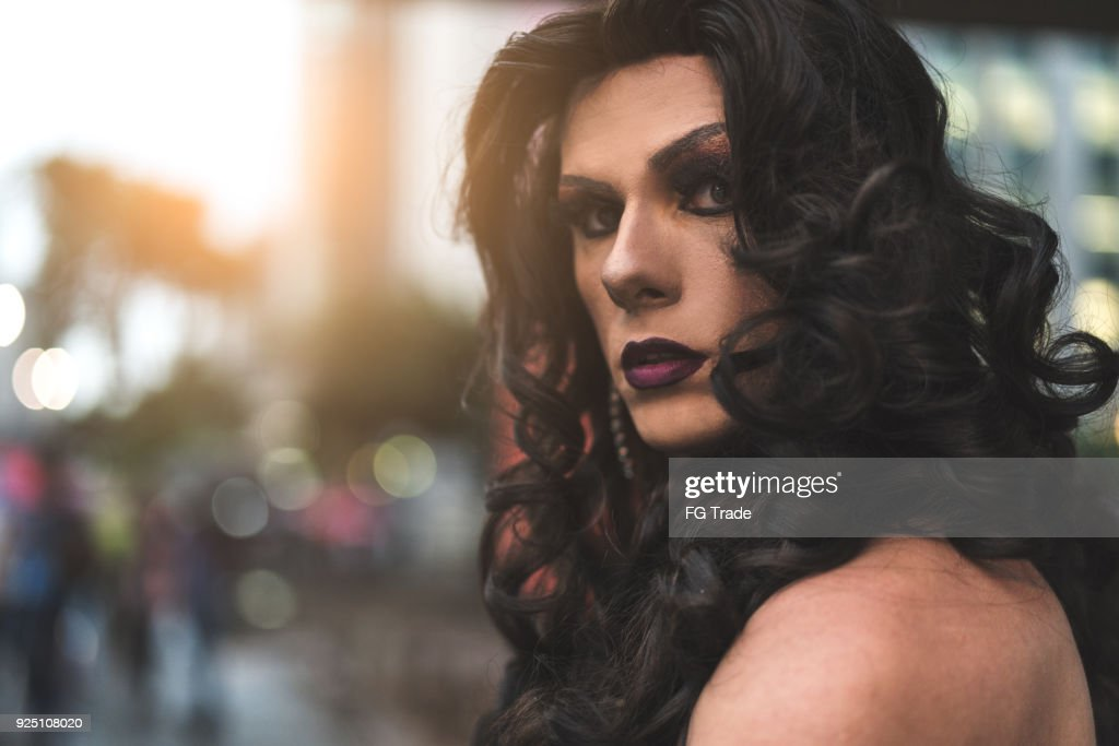 Confident Drag Queen : Stock Photo