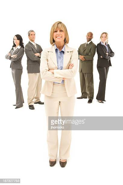 Confident Executive and Her Team