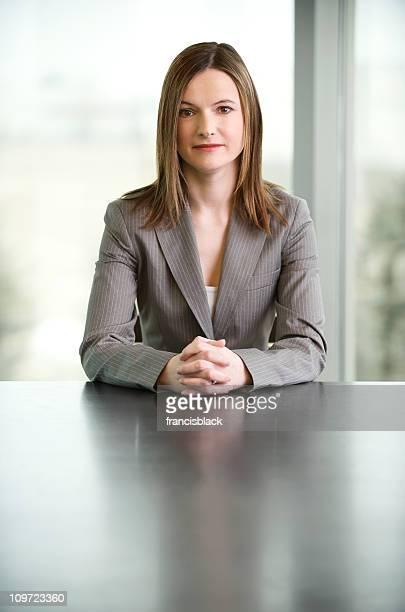 Confident female CEO