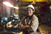 Confident Female Factory Worker