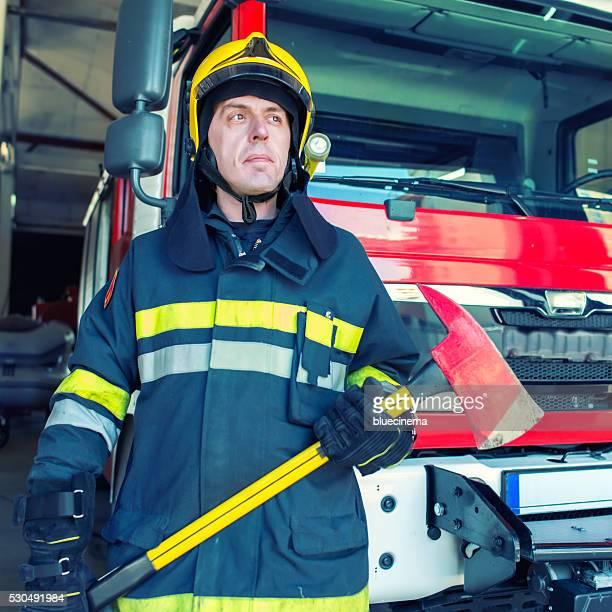 Confident Firefighter Portrait
