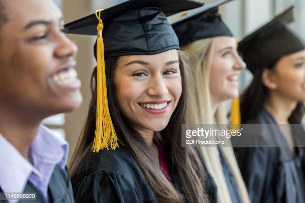 confident graduating seniors - graduation stock pictures, royalty-free photos & images