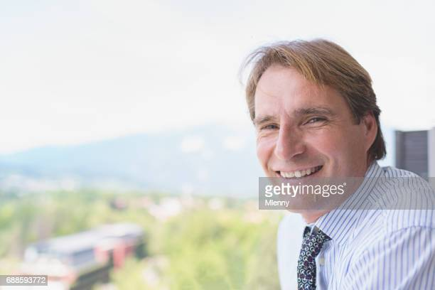 Confident Happy Smiling Businessman