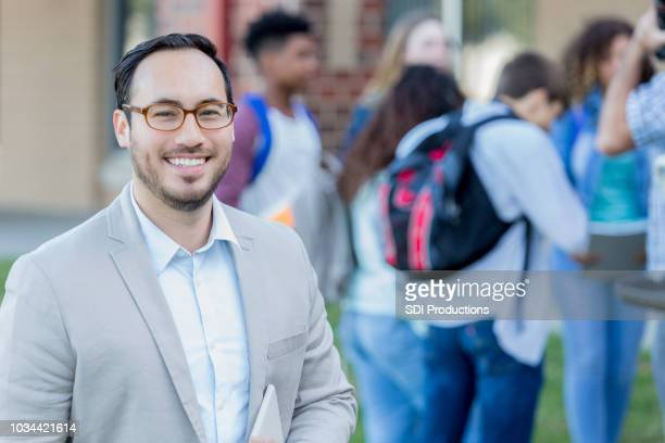 confident high school teacher - school principal stock pictures, royalty-free photos & images