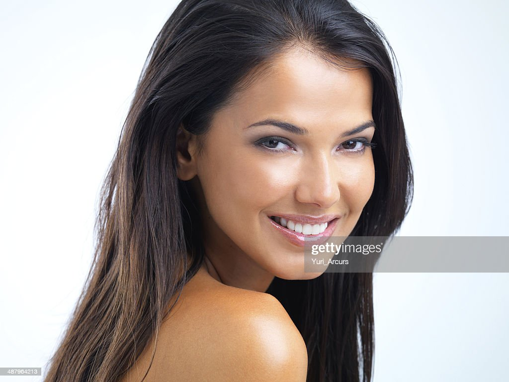 Confident in her beauty : Stock Photo