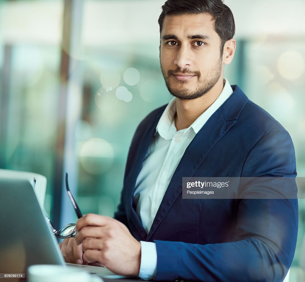 Confident in his business acumen : Stock Photo