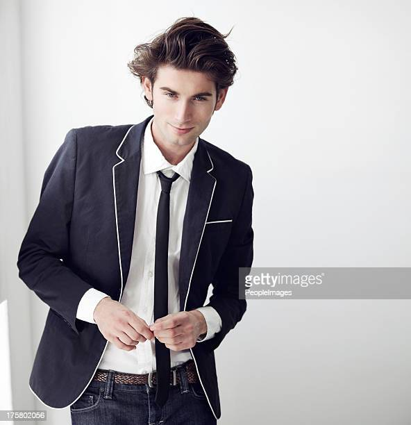 confident in his sense of style - metrosexual stock pictures, royalty-free photos & images