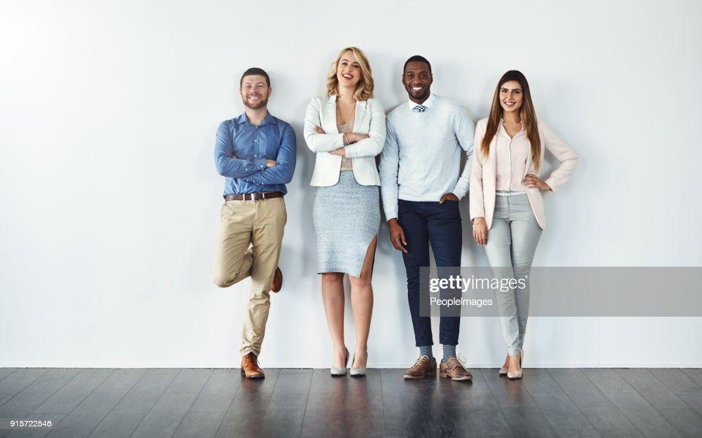 Confident individuals make a confident team : Stock Photo