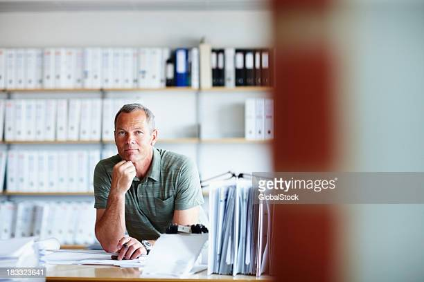 confident male architect working on a new project - administrator stock pictures, royalty-free photos & images