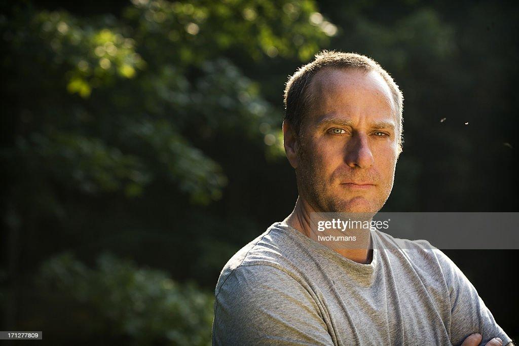 Confident man outdoors : Stock Photo