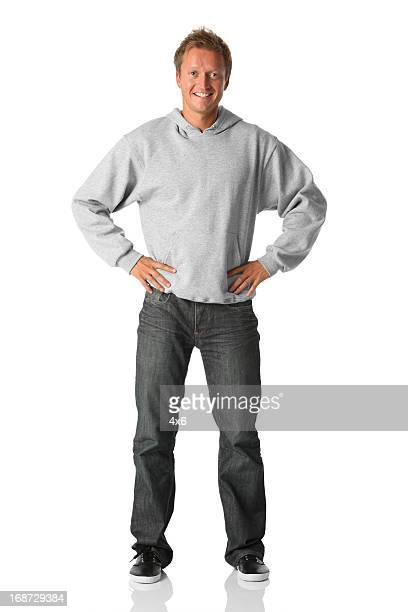 confident man - arms akimbo stock pictures, royalty-free photos & images