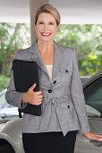 attractive happy confident mature business woman