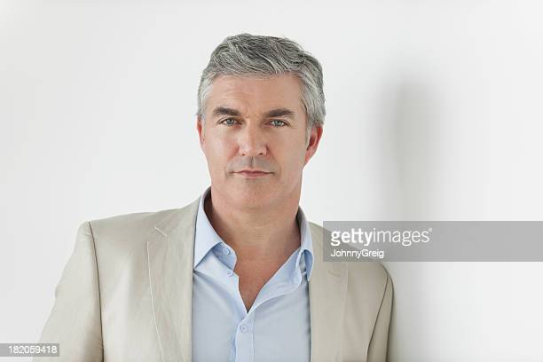 confident mature businessman - handsome 50 year old men stock photos and pictures