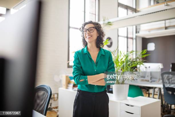 confident mid adult female professional - looking away stock pictures, royalty-free photos & images
