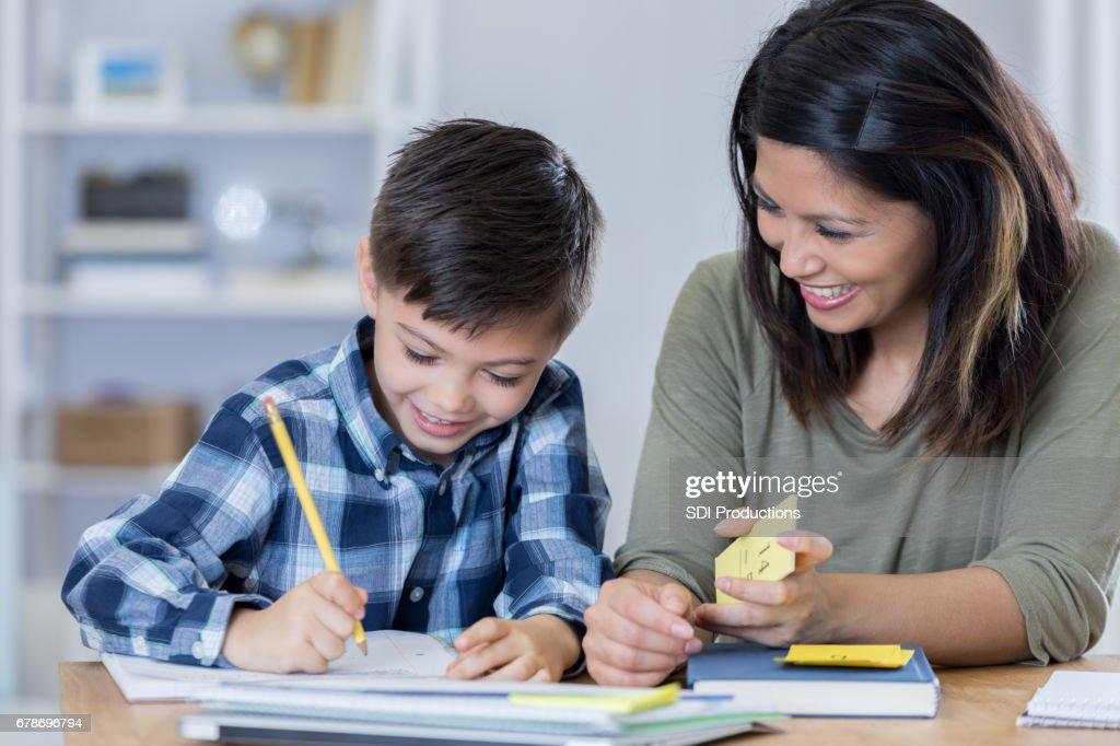 mom teach son